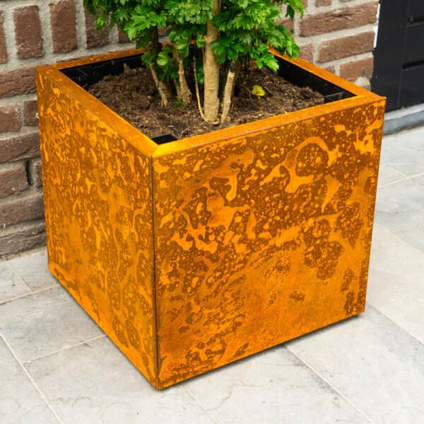 Corten Steel Planter Yoepplanter Base Box With Corten Steel Panels