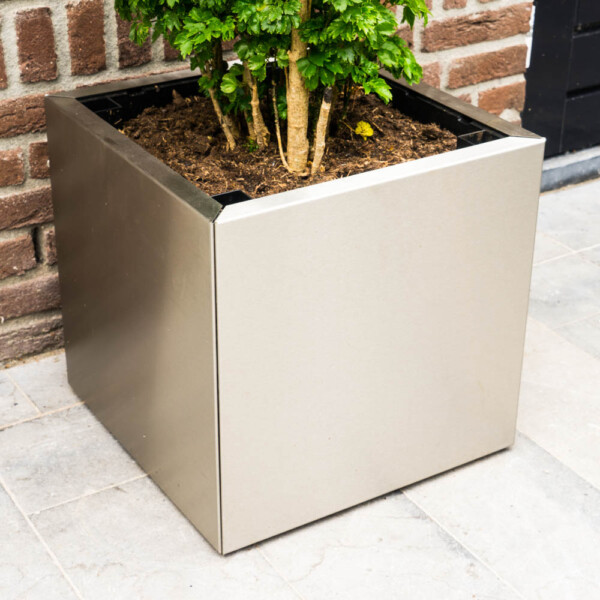 Rvs Planter Yoepplanter Basic Tray With Stainless Steel Panels Order Now